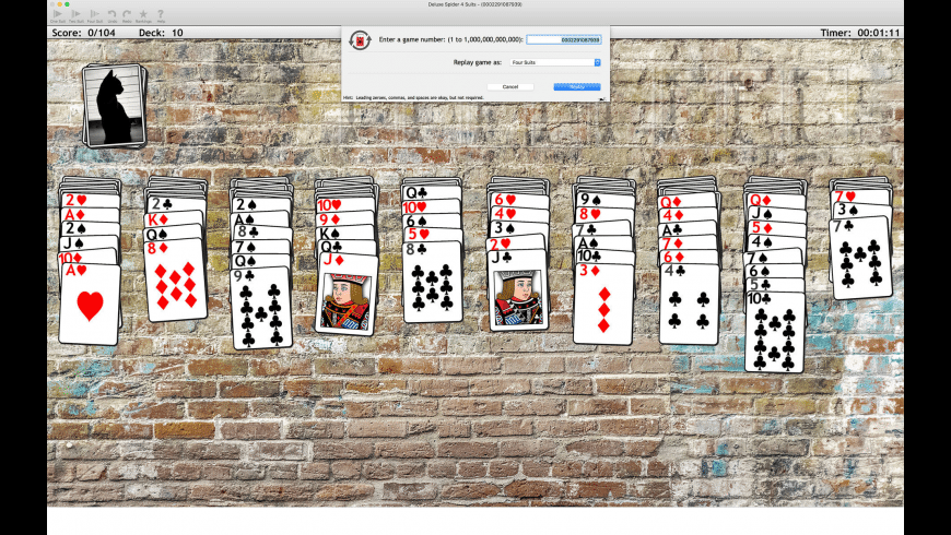 Deluxe Spider Solitaire for Mac - review, screenshots