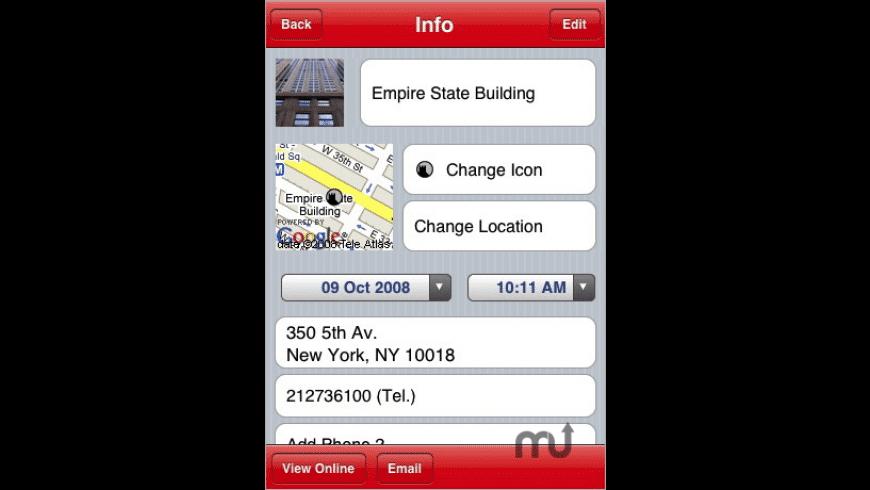 Schmap Place Saver for Mac - review, screenshots