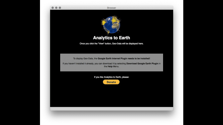 Analytics to Earth for Mac - review, screenshots