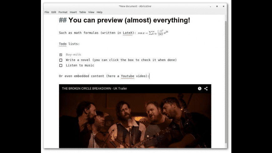 Abricotine for Mac - review, screenshots