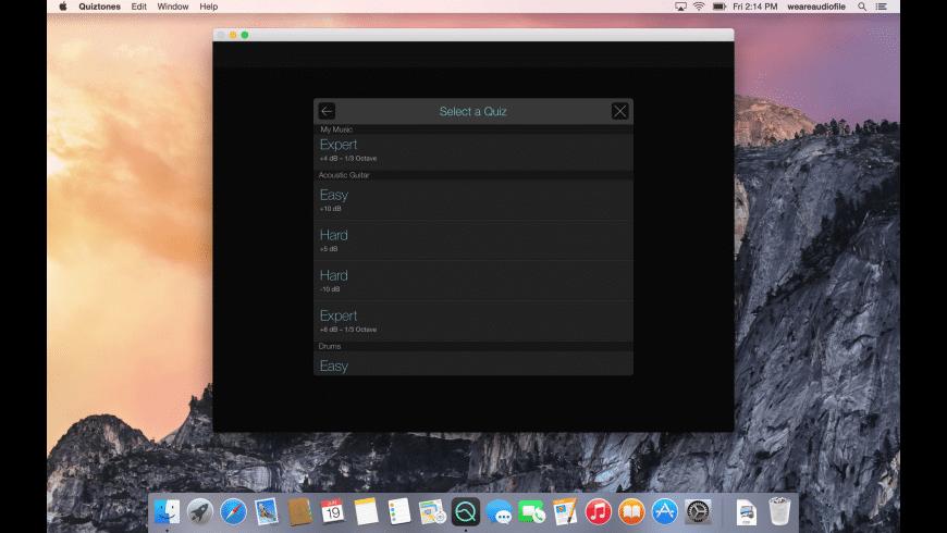 Quiztones for Mac - review, screenshots