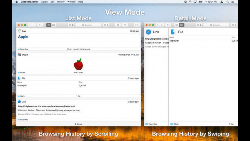 Clipboard Action for Mac - review, screenshots