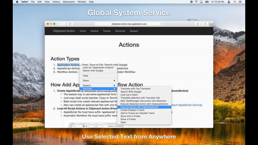 Clipboard Action for Mac - review, screenshots