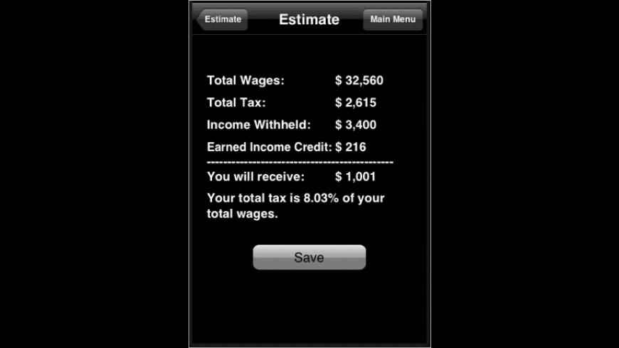 Income Tax Estimator '08 for Mac - review, screenshots