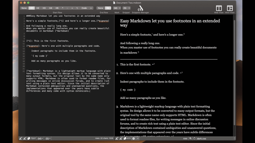 Easy Markdown for Mac - review, screenshots