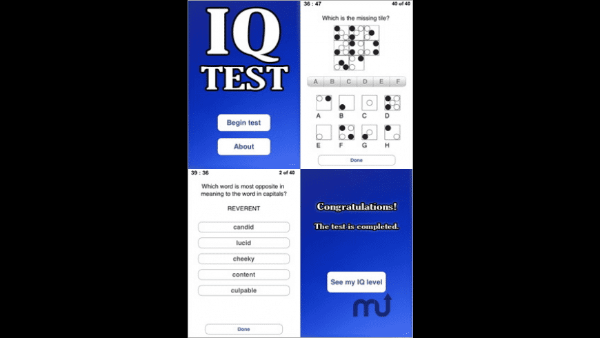 IQ-Test for Mac - review, screenshots