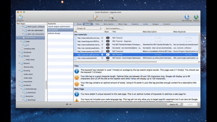 SEIntelligence for Mac - review, screenshots