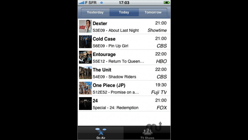 TV Shows for Mac - review, screenshots