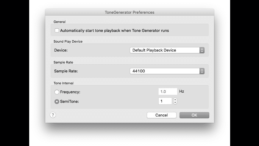 ToneGenerator for Mac - review, screenshots