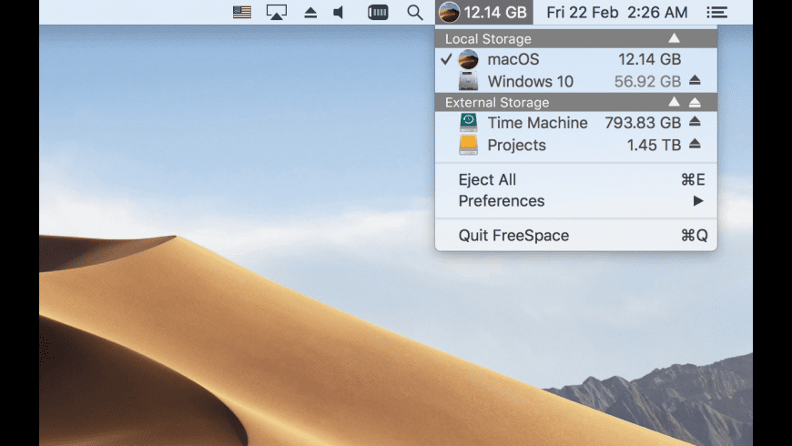 FreeSpace for Mac - review, screenshots