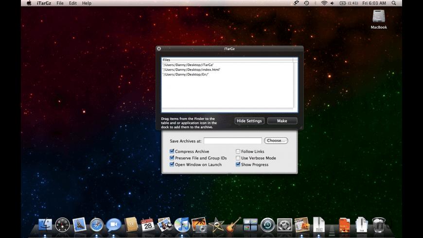 iTarGz for Mac - review, screenshots