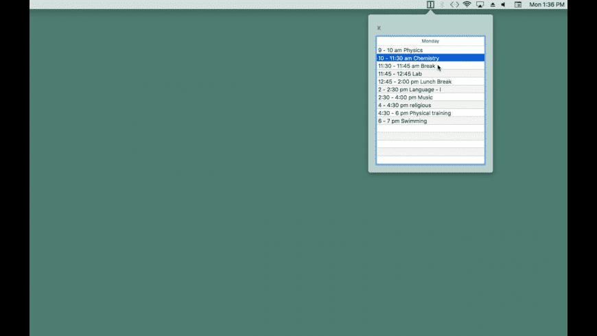 WeekList for Mac - review, screenshots