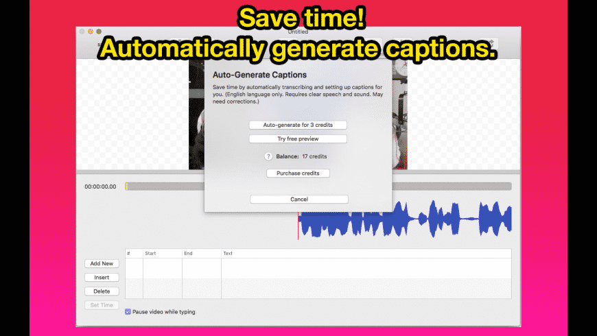 Video Caption Maker for Mac - review, screenshots