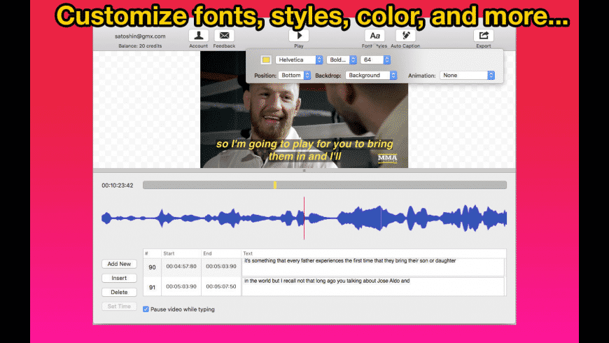 Video Caption Maker for Mac - review, screenshots