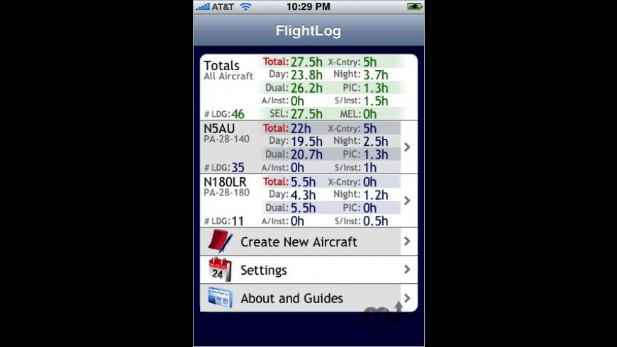 FlightLog - Pilot's Logbook for Mac - review, screenshots