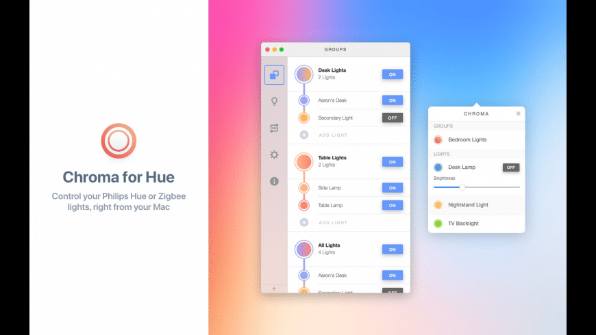 Chroma for Hue for Mac - review, screenshots