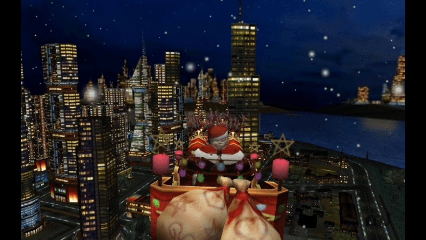 Santa and the City 3D Christmas Screen Saver for Mac - review, screenshots