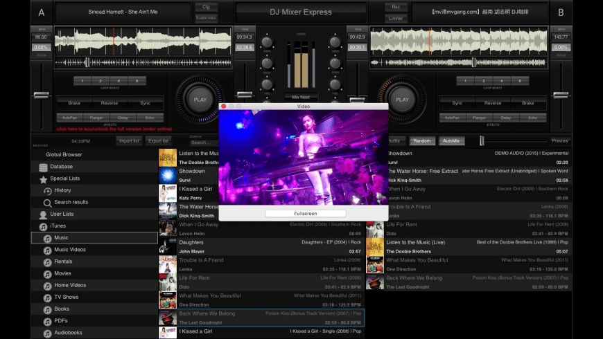 DJ Mixer Express for Mac - review, screenshots