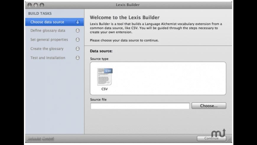 Lexis Builder for Mac - review, screenshots