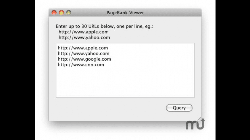 PageRank Viewer for Mac - review, screenshots