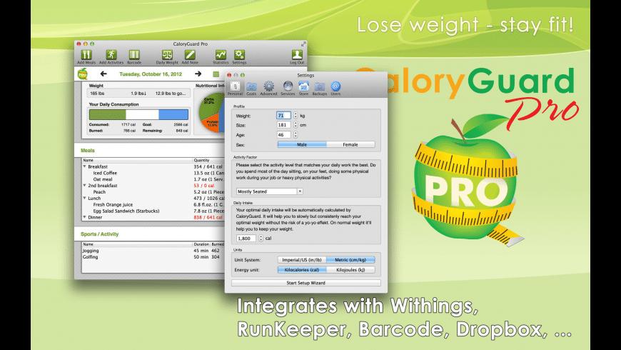 CaloryGuard Pro for Mac - review, screenshots