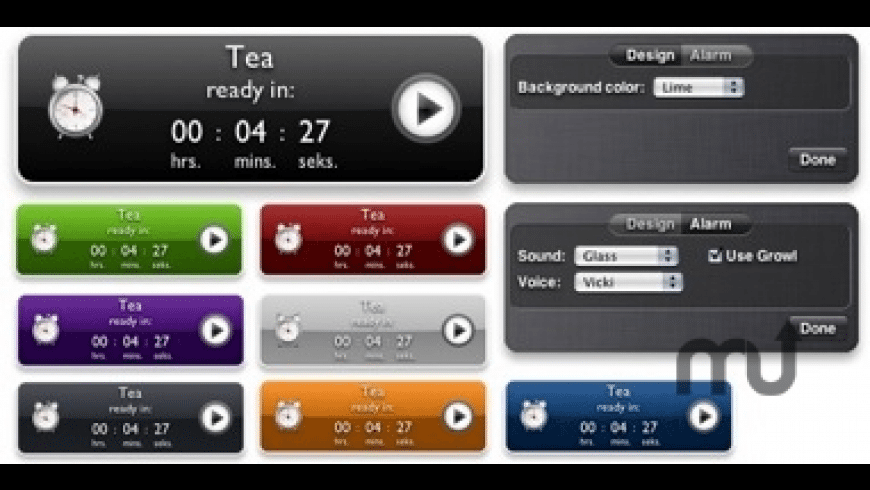 TeaTimer Widget for Mac - review, screenshots