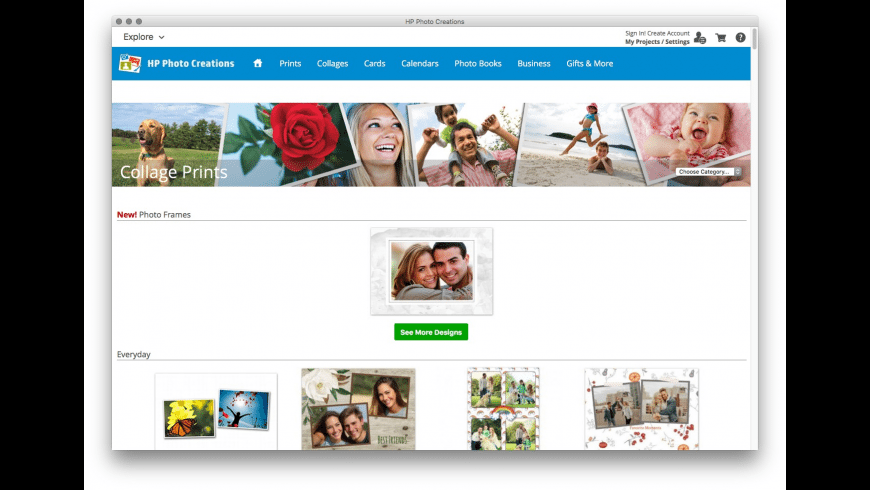 HP Photo Creations for Mac - review, screenshots