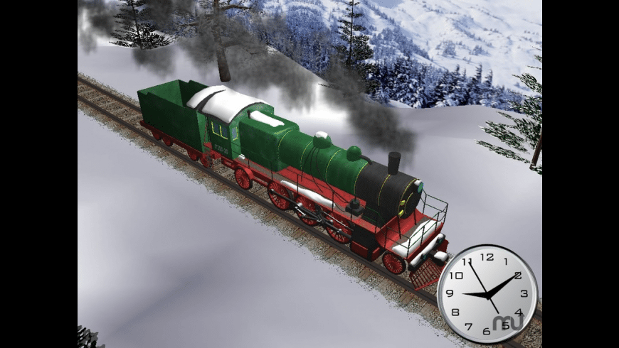 Winter Train 3D Screensaver for Mac - review, screenshots