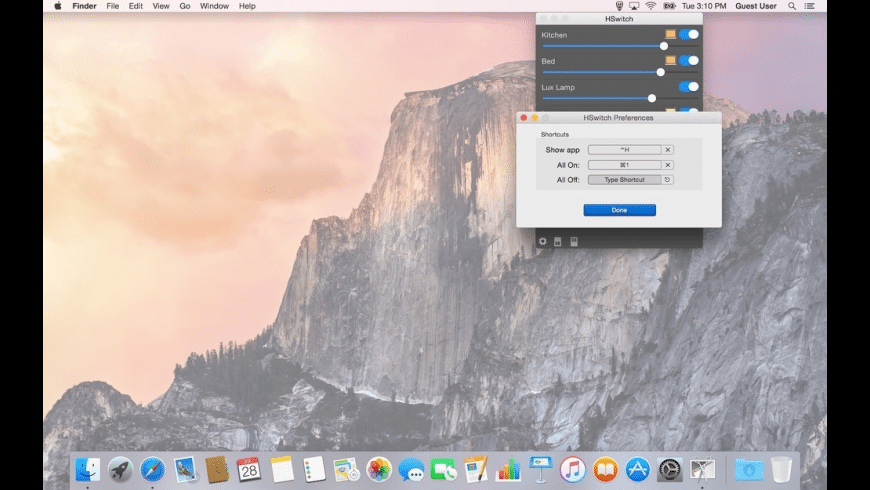 HSwitch for Philips Hue for Mac - review, screenshots