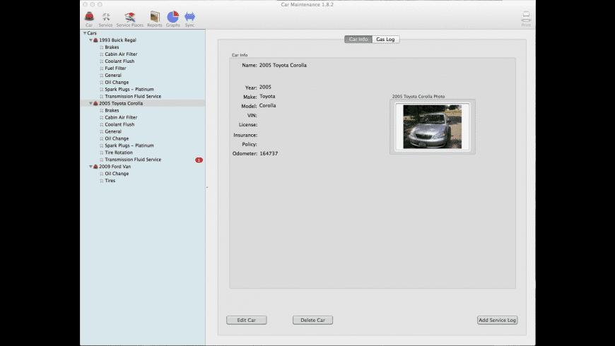 Car Maintenance for Mac - review, screenshots