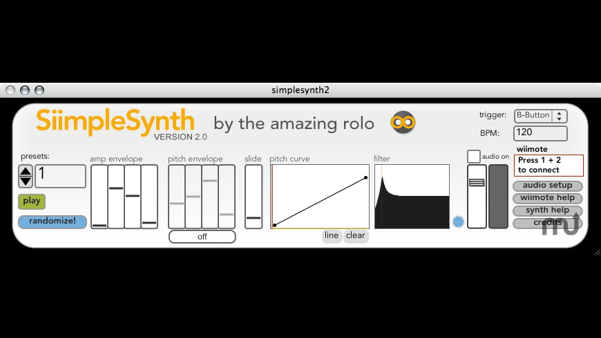 Wii SiimpleSynth for Mac - review, screenshots