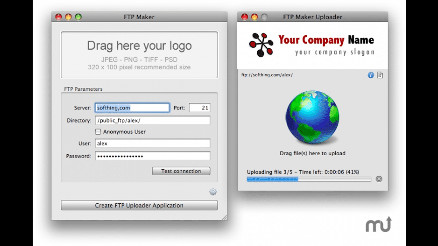 FTP Maker for Mac - review, screenshots