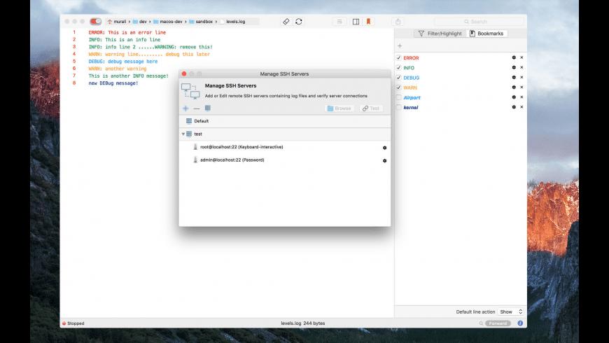 LogTail for Mac - review, screenshots