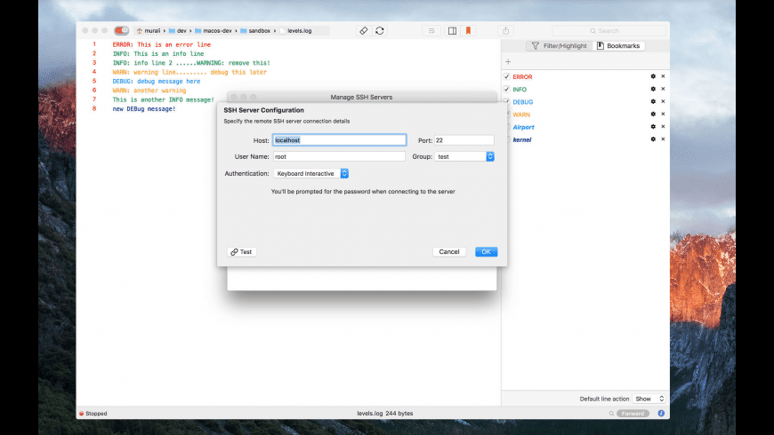 LogTail for Mac - review, screenshots