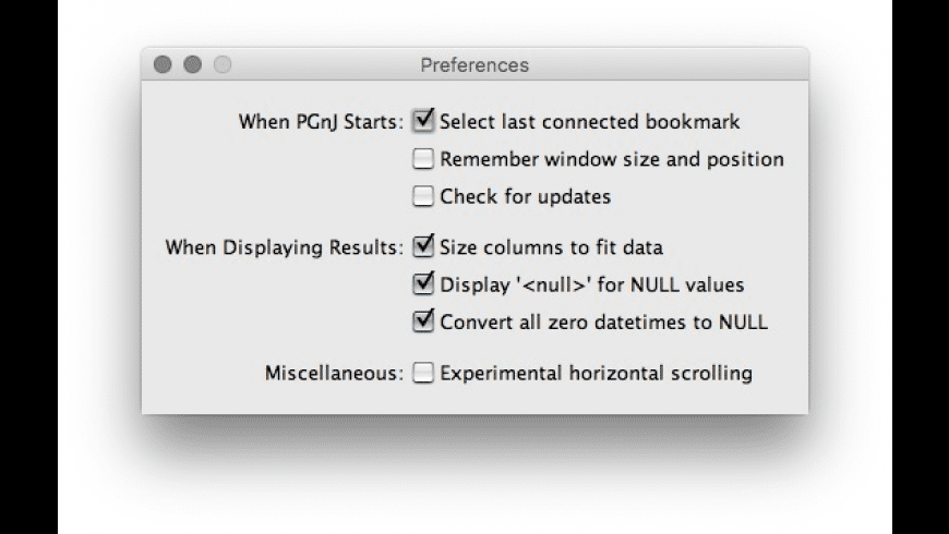 PGnJ for Mac - review, screenshots
