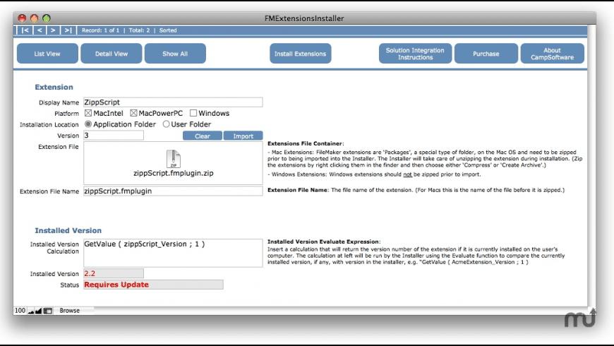 FMExtensionsInstaller for Mac - review, screenshots
