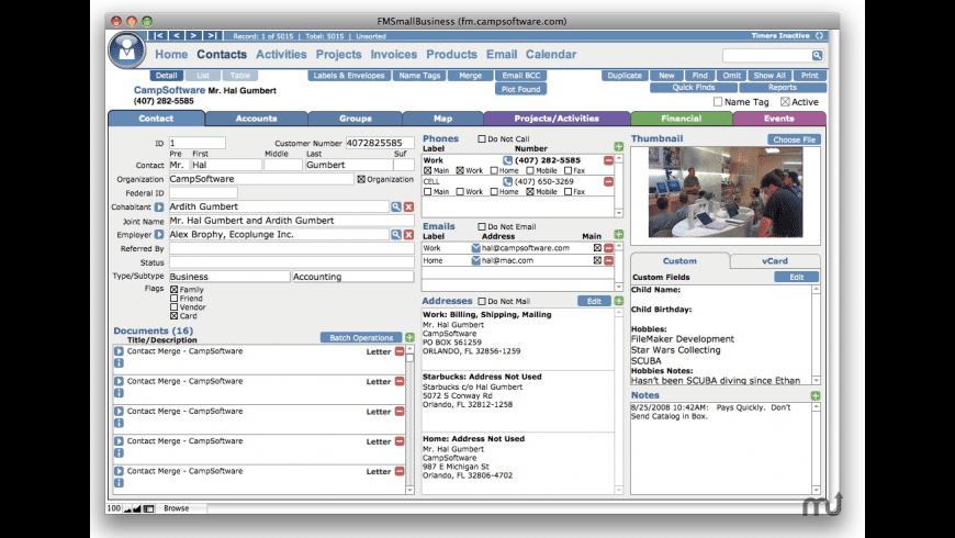 FMSmallBusiness for Mac - review, screenshots