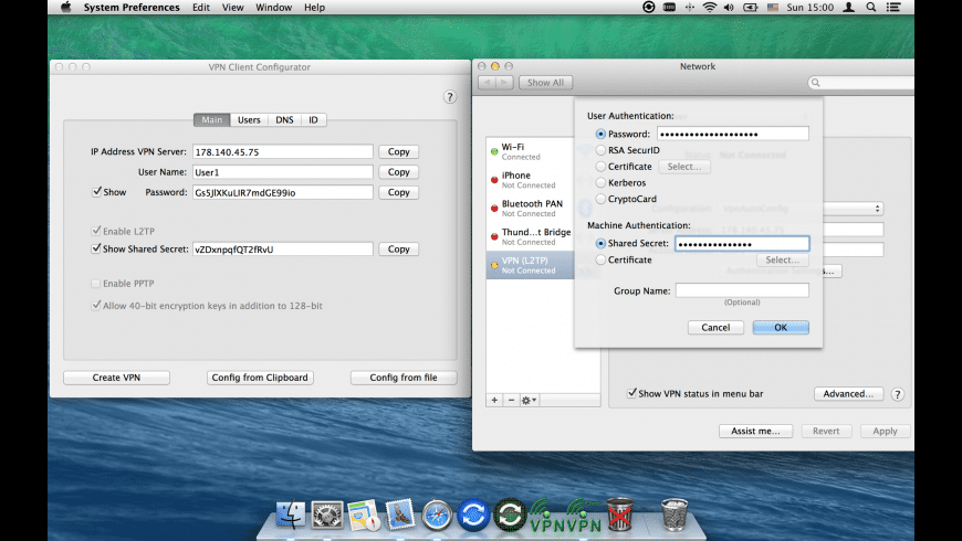 VPN Client Configurator for Mac - review, screenshots
