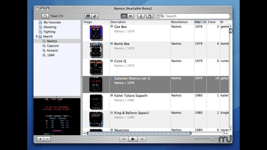MAME_Tunes for Mac - review, screenshots