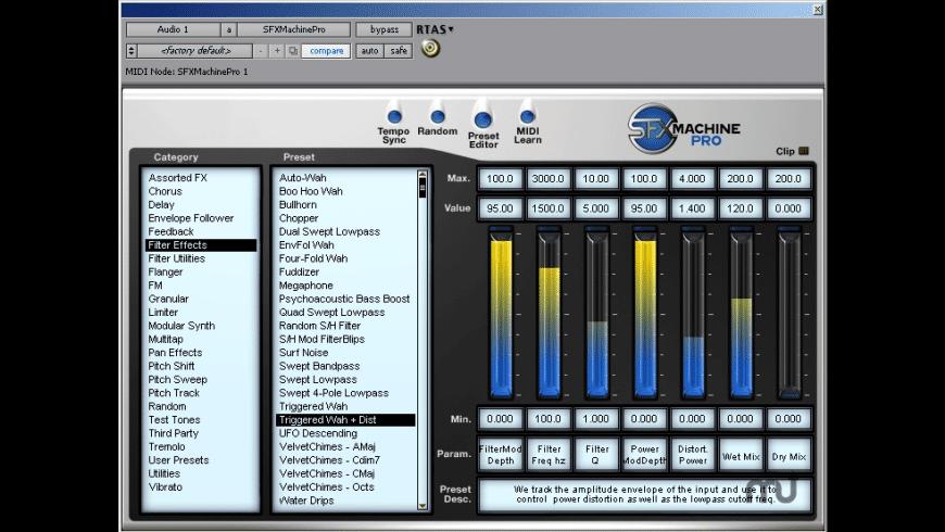 SFX Machine Pro for RTAS for Mac - review, screenshots