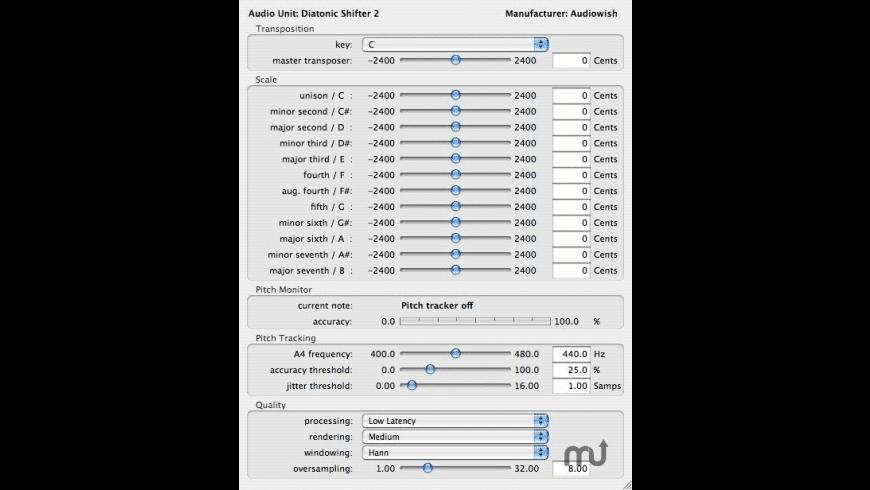 Diatonic Shifter 2 for Mac - review, screenshots