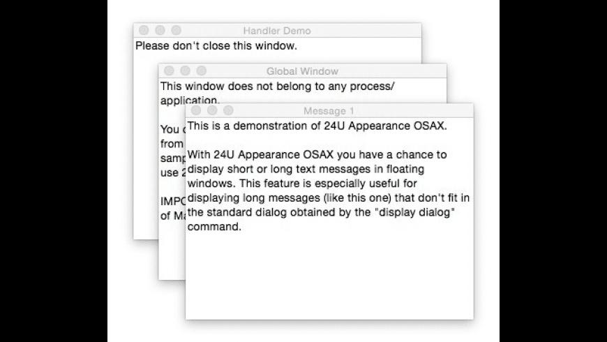 24U Appearance OSAX for Mac - review, screenshots