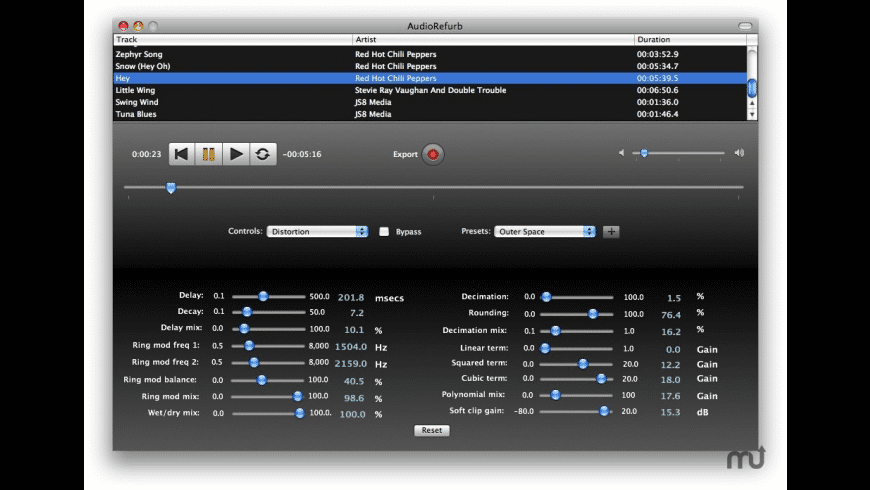 AudioRefurb for Mac - review, screenshots