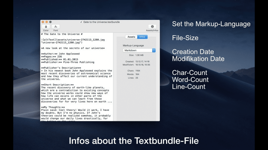 Textbundle Editor for Mac - review, screenshots