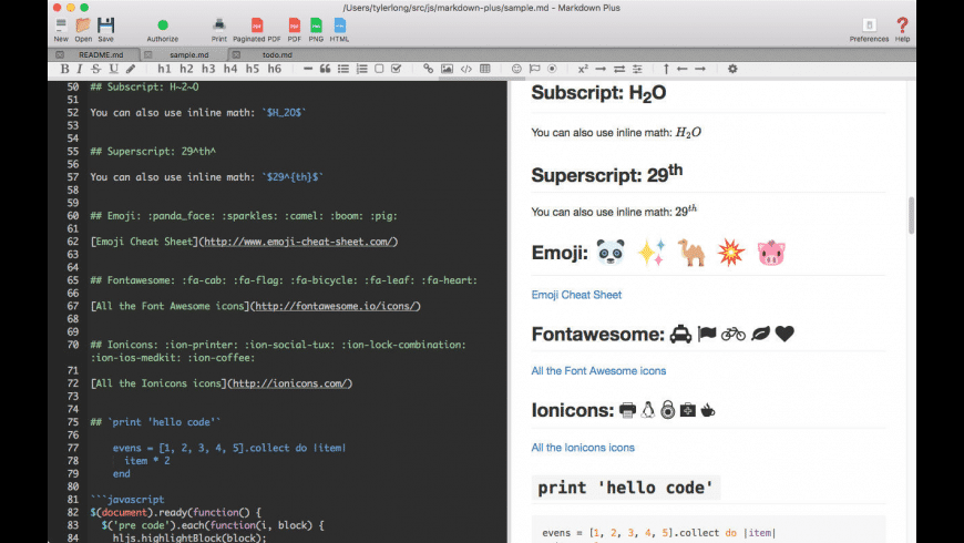 Markdown Plus for Mac - review, screenshots