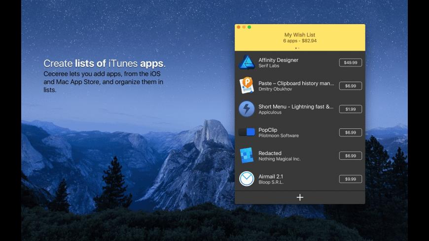 Ceceree for Mac - review, screenshots