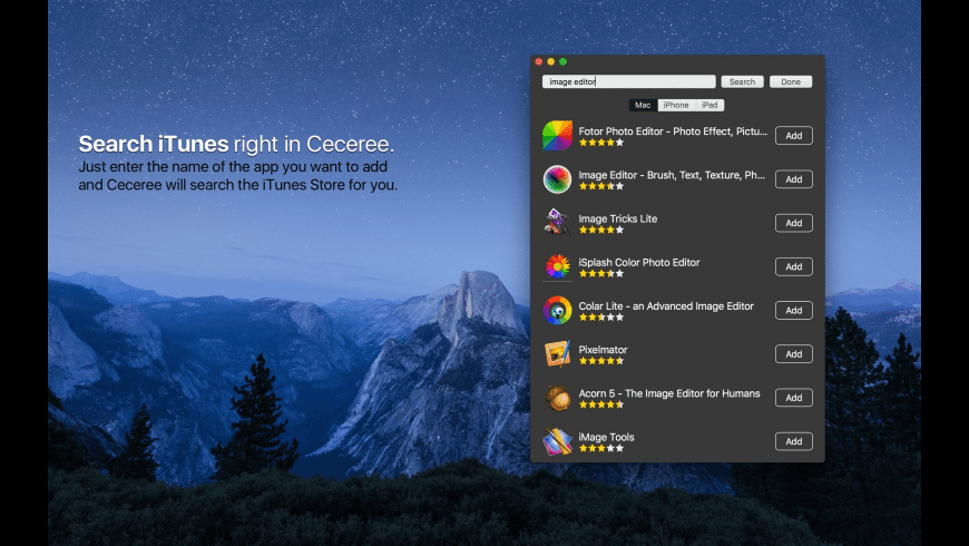 Ceceree for Mac - review, screenshots