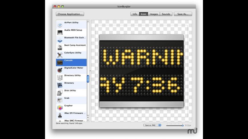 IconBurglar for Mac - review, screenshots