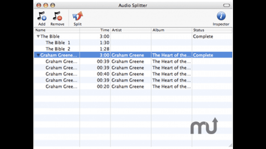 Audio Splitter for Mac - review, screenshots