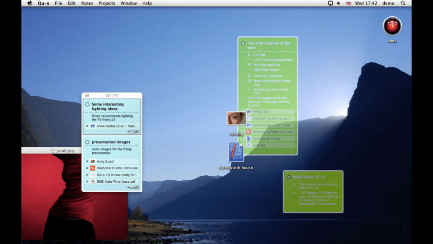 Qu-s for Mac - review, screenshots
